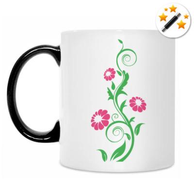 Кружка-хамелеон Цветок