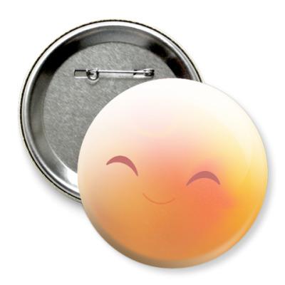 Значок 75мм Happy Smile