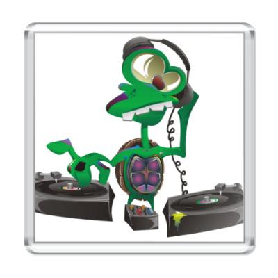 Магнит DJ Turtle