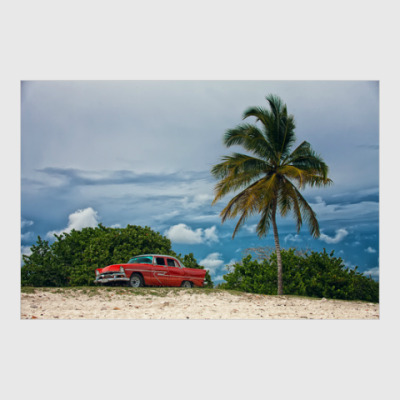 Постер Plymouth Belvedere на пляже Варадеро, Куба.