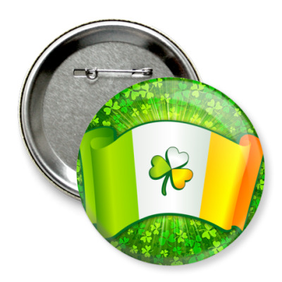 Значок 75мм Флаг Ирландии