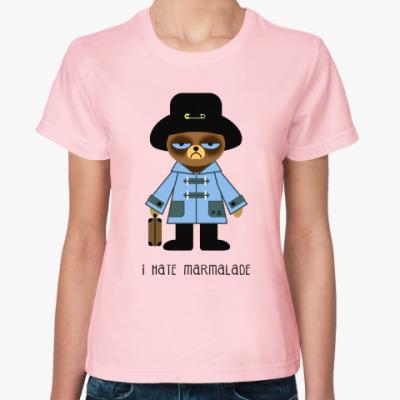 Женская футболка Grumpy Paddington