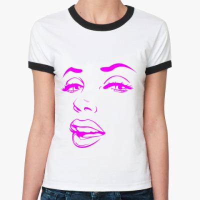 Женская футболка Ringer-T Красавица