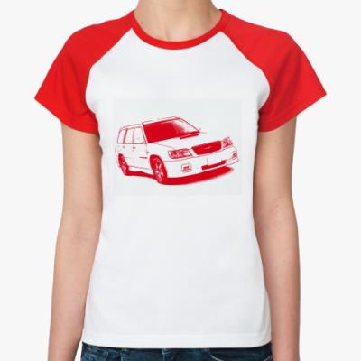 Женская футболка реглан STI