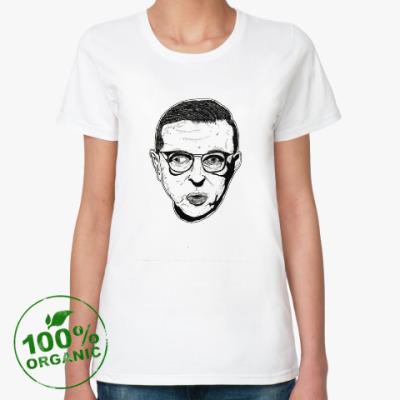 Женская футболка из органик-хлопка Жан-Поль Сартр
