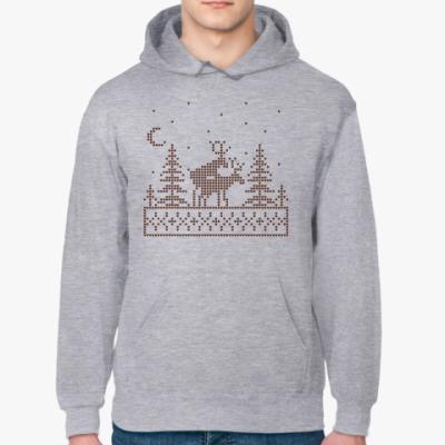 Толстовка худи Олени в лесу