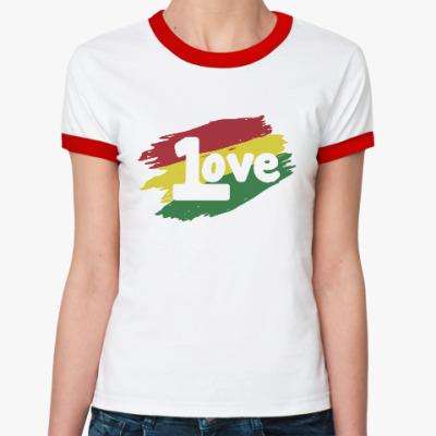 Женская футболка Ringer-T 1 Love