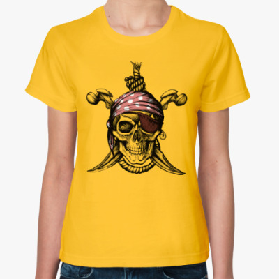Женская футболка Весёлый Роджер