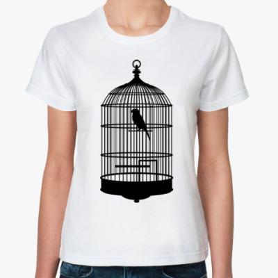 Классическая футболка Птица в клетке
