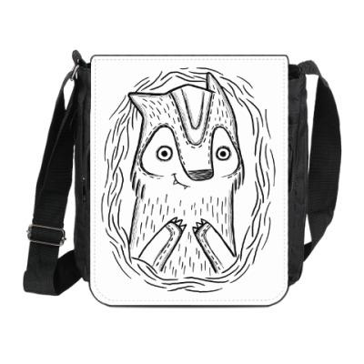Сумка на плечо (мини-планшет) Волчик
