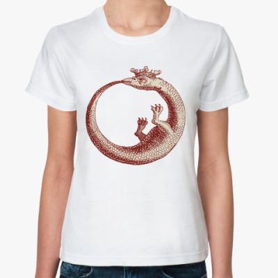 Классическая футболка  retro dragon
