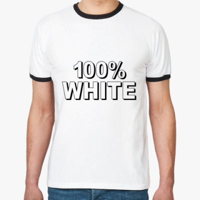 Футболка Ringer-T 100% WHITE