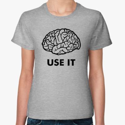Женская футболка Мозг