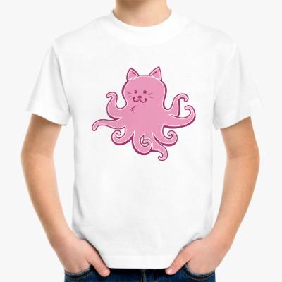 Детская футболка Котик-осьминожка. Cat-octopus.