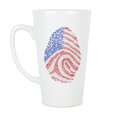Чашка Латте USA отпечаток