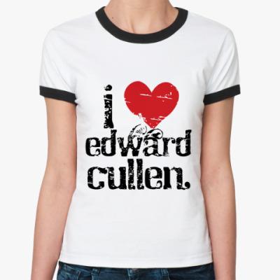 Женская футболка Ringer-T I love EC