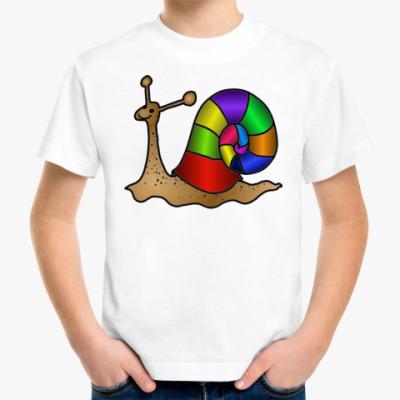 Детская футболка Весёлая Улитка
