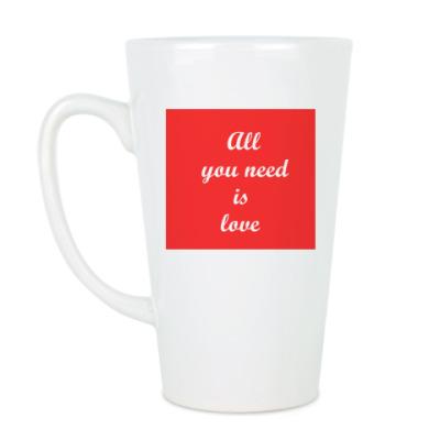Чашка Латте 'All...is love'