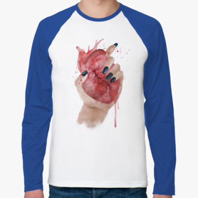 Футболка реглан с длинным рукавом Сердце в руке