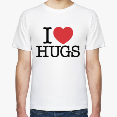 Футболка  I love HUGS