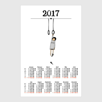 Постер Calendar 2017 Календарь