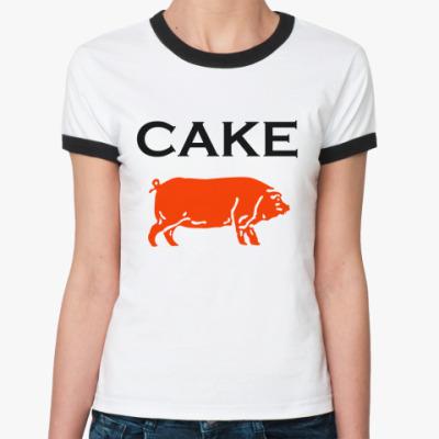 Женская футболка Ringer-T Cake