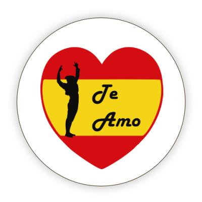 Костер (подставка под кружку) Я люблю тебя по-испански
