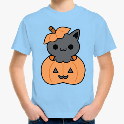 Детская футболка Pumpkin Cat