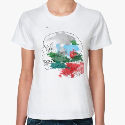 Классическая футболка Ноябрьский череп