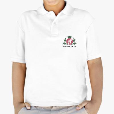Детская рубашка поло Детская рубашка поло Shady Glen, белая