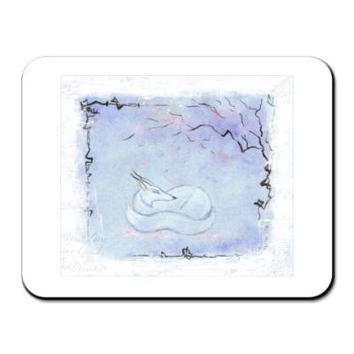 Коврик для мыши Снежный лис