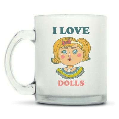 Кружка матовая Люблю кукол