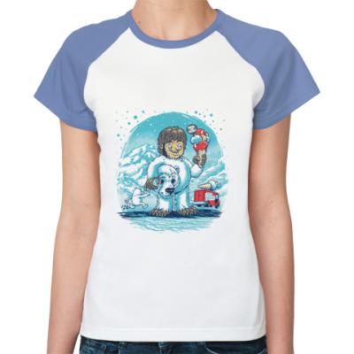 Женская футболка реглан   Bears