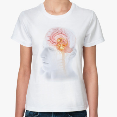 Классическая футболка  Anatomy - мозг