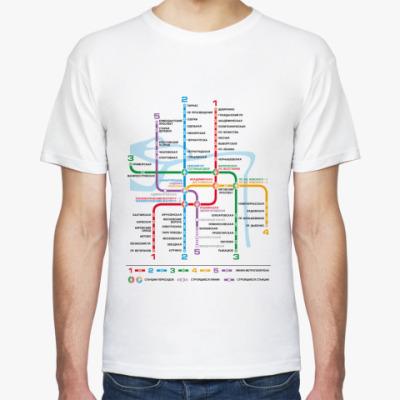 Футболка Схема Питерского метро
