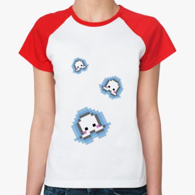 Женская футболка реглан pixel