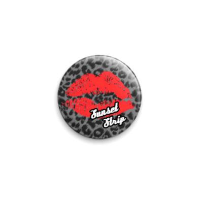 Значок 25мм Button Leopard