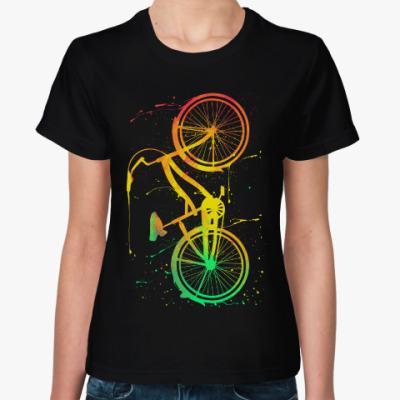 Женская футболка Велосипед