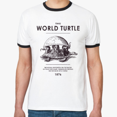 Футболка Ringer-T  World Turtle