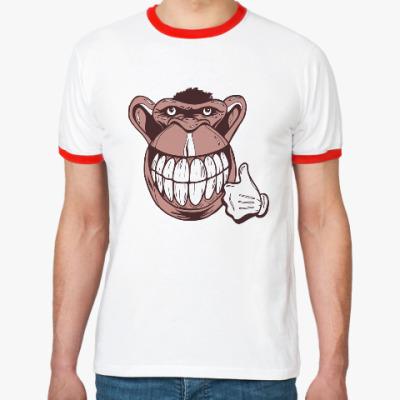 Футболка Ringer-T Веселая обезьяна