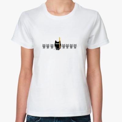 Классическая футболка  футболка Ninja Cats