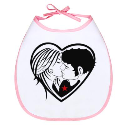 Слюнявчик Kiss Forever