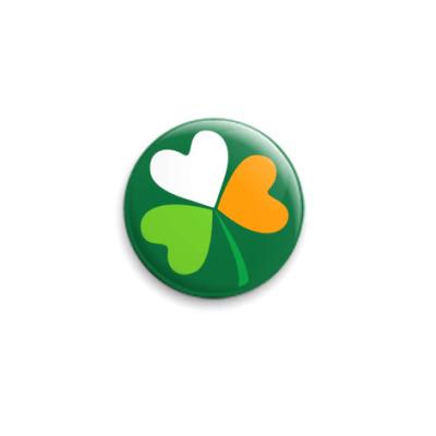 Значок 25мм Irish clover