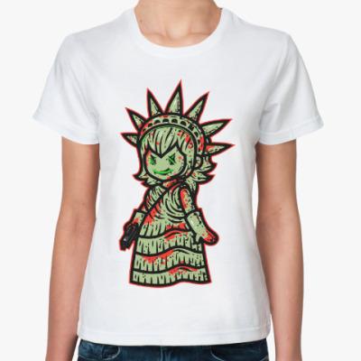 Классическая футболка Статуя Свободы