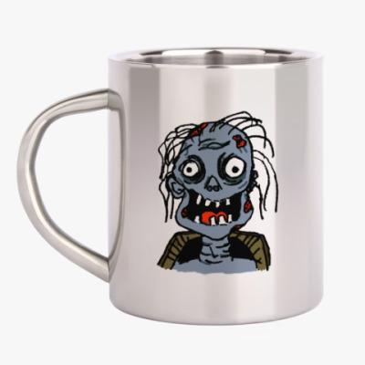 Кружка металлическая Зомби