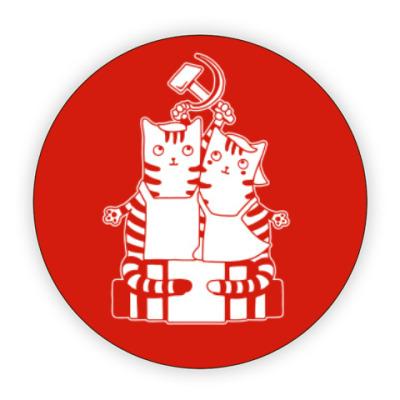 Костер (подставка под кружку) Котики ретро СССР