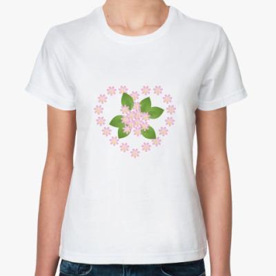 Классическая футболка Весна на сердце