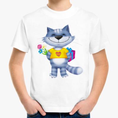 Детская футболка Котейка