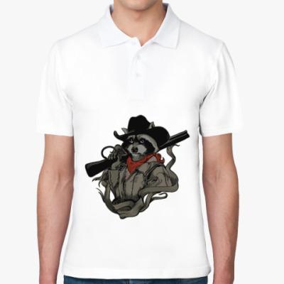 Рубашка поло Енот с ружьём