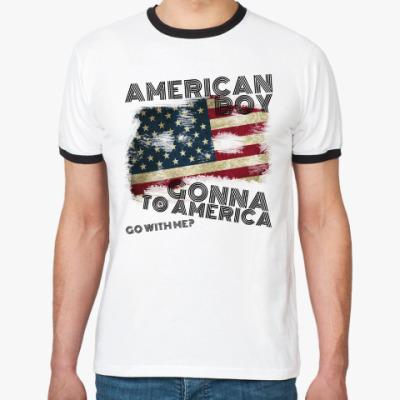 Футболка Ringer-T 'AMERICAN BOY'